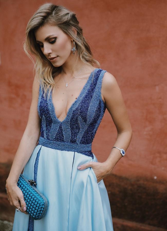 Vestido de festa azul comprar