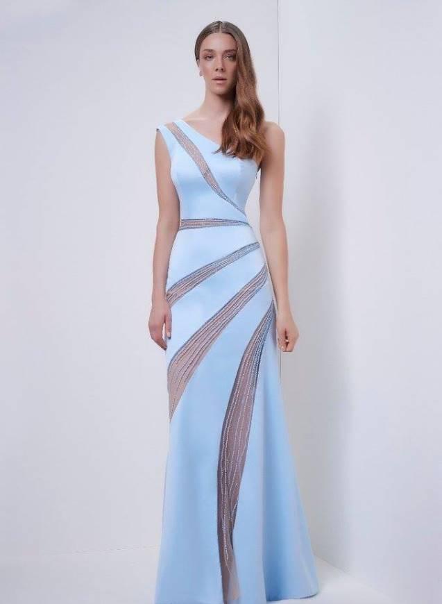 Vestido de madrinha azul para comprar