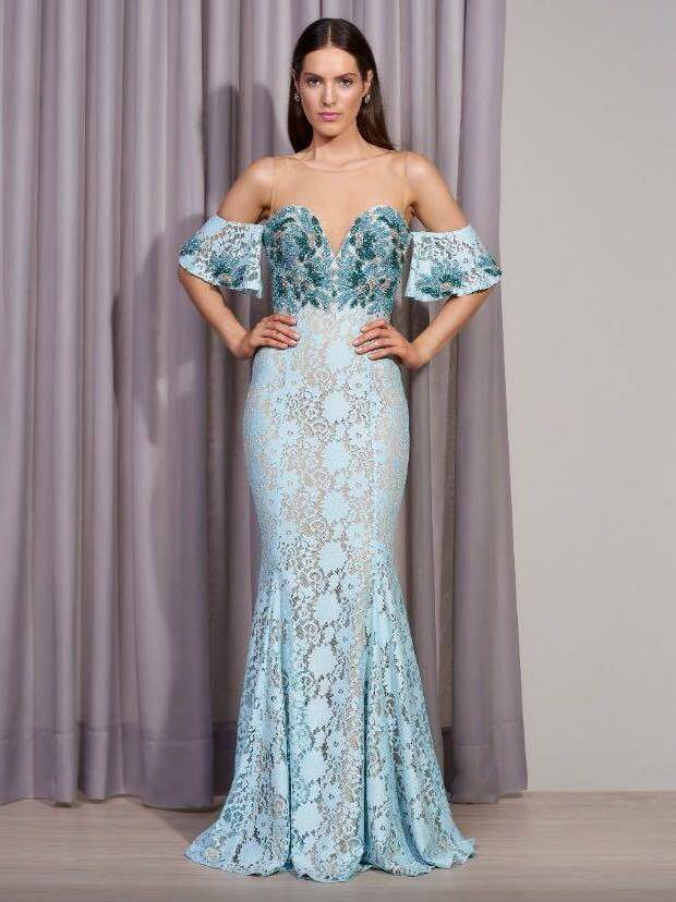 e0d5e60a3 10 vestidos de festa com renda para usar em 2018 - Pronta pra Festa