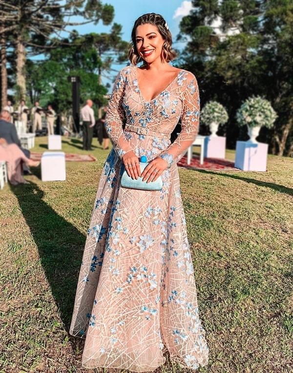 vestido para madrinha de casamento no campo
