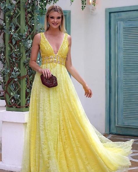 Vestido De Festa Amarelo Modelos Em Alta Para Usar Em 2018