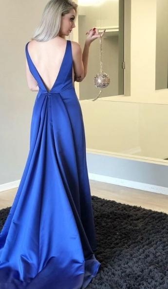 Vestido azul festa bh