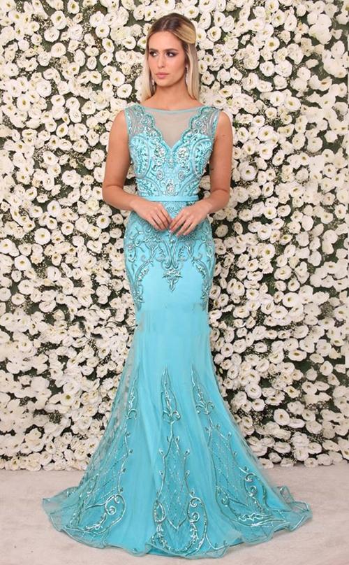 Vestidos de festa cor azul turquesa