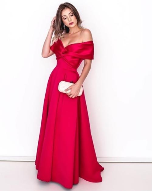 vestido de festa longo pink