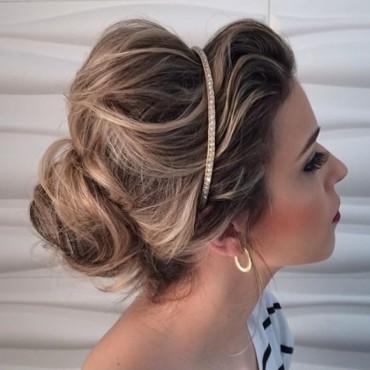 penteado para usar com vestido tomara que caia