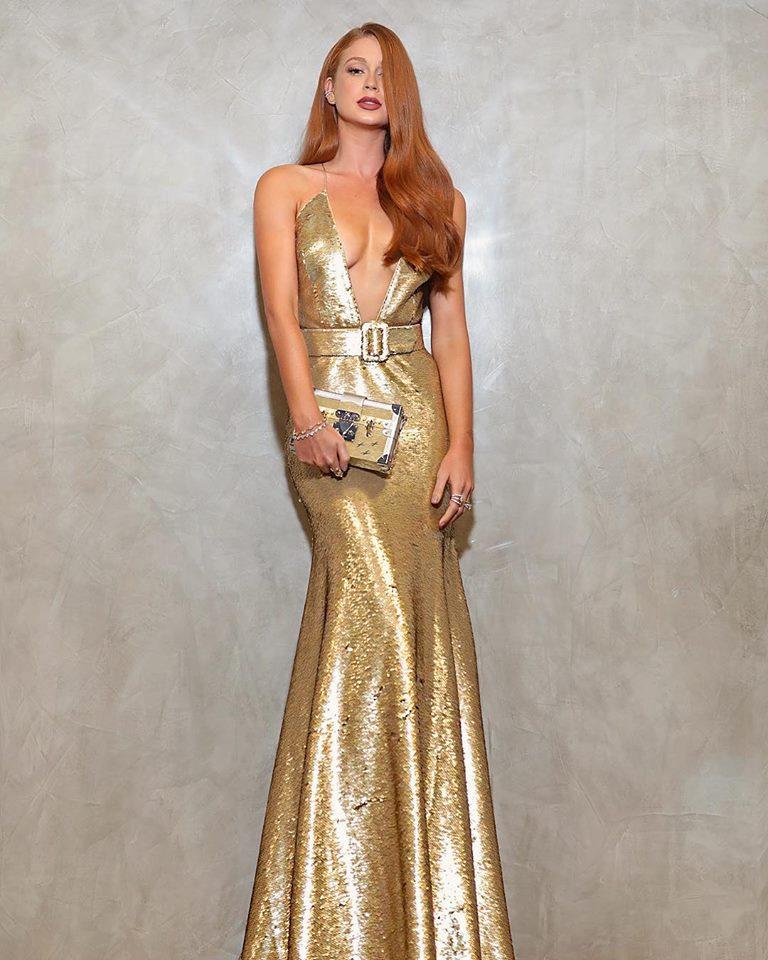 marina ruy barbosa vestido dourado