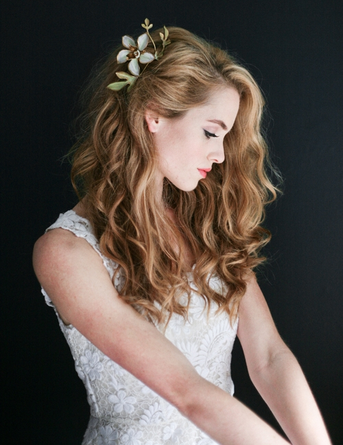 penteados com flores