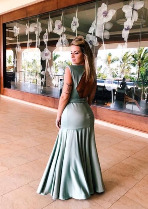 vestido verde claro madrinha