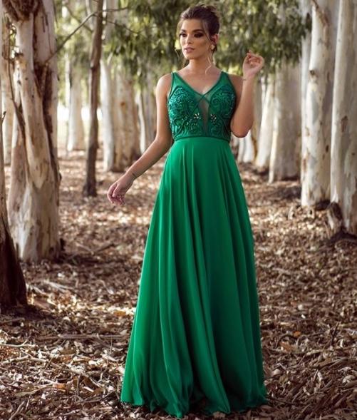 vestido verde madrinha