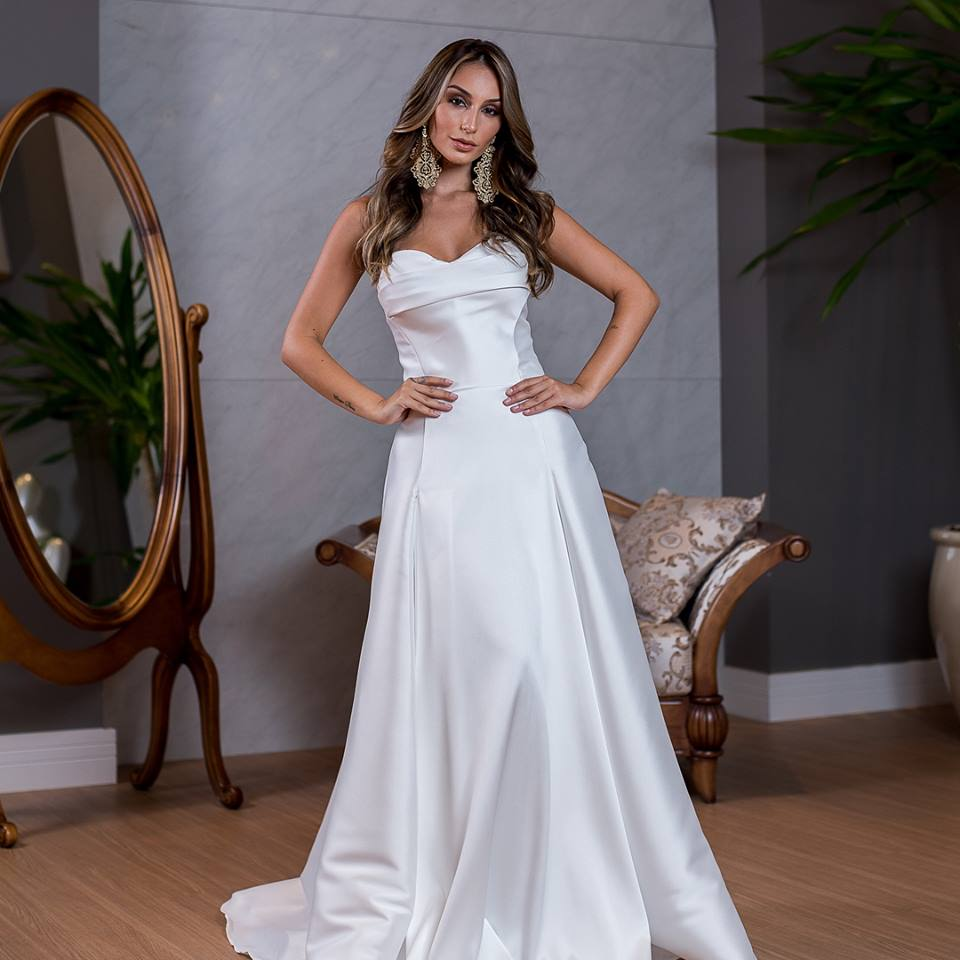 vestido branco mini wedding ou formatura