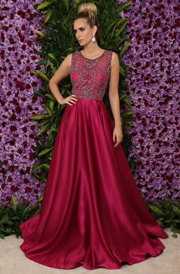 vestido estilo princesa para formatura