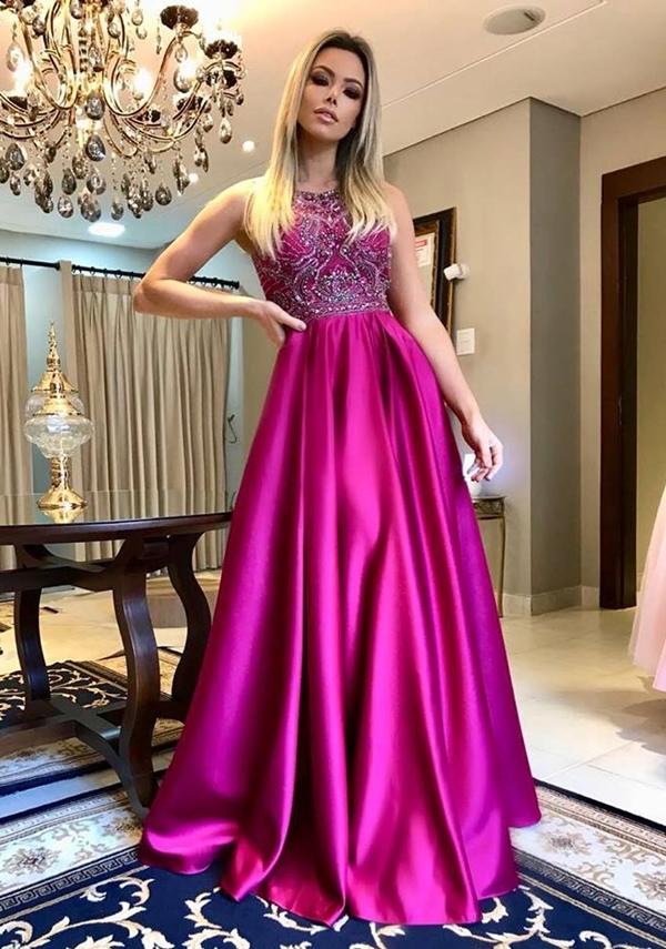 vestido de festa pink 2019