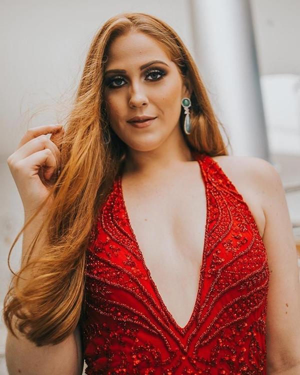 vestido de festa vermelho e marsala