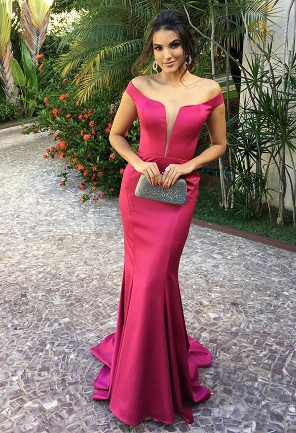 vestido de festa pink e fucsia