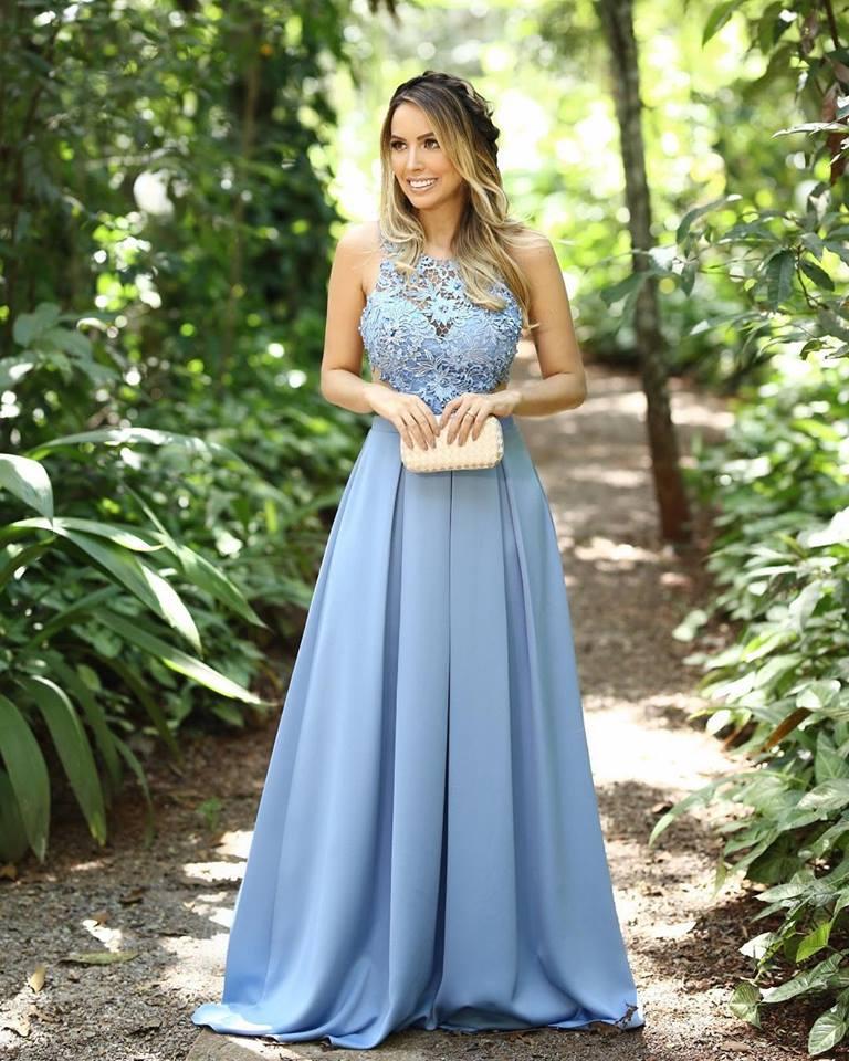 vestido azul claro para madrinha