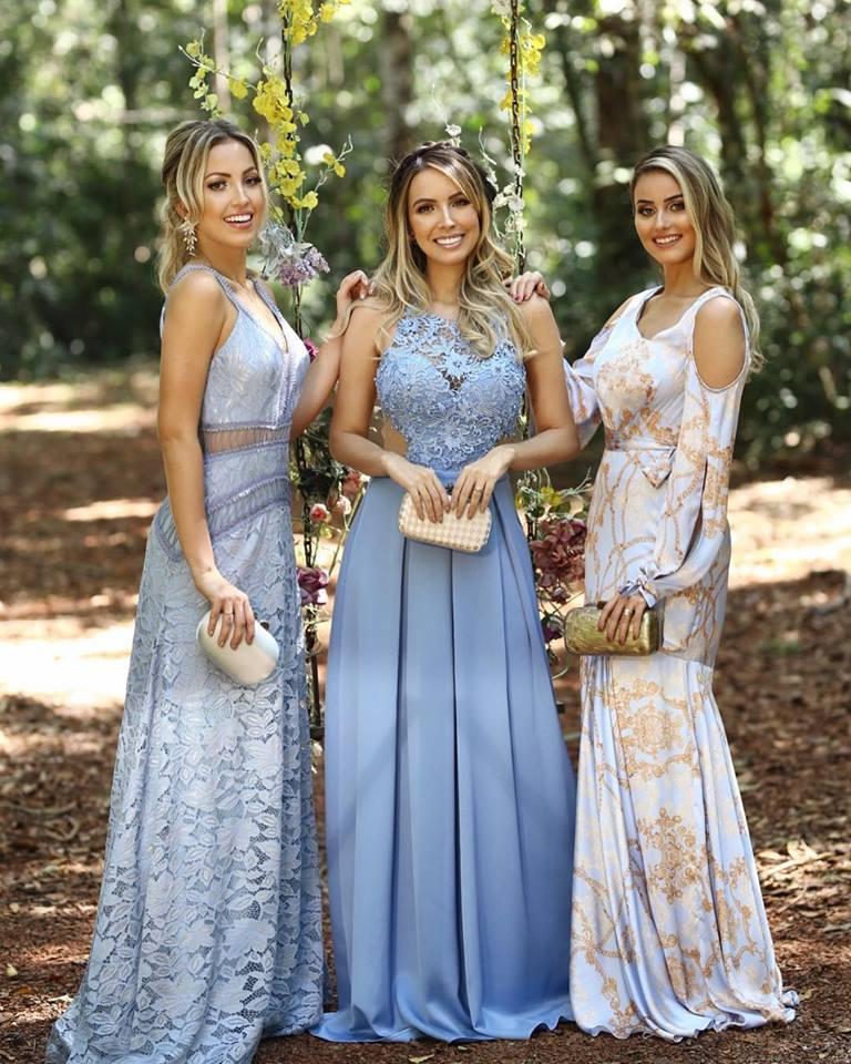 vestido azul claro madrinhas