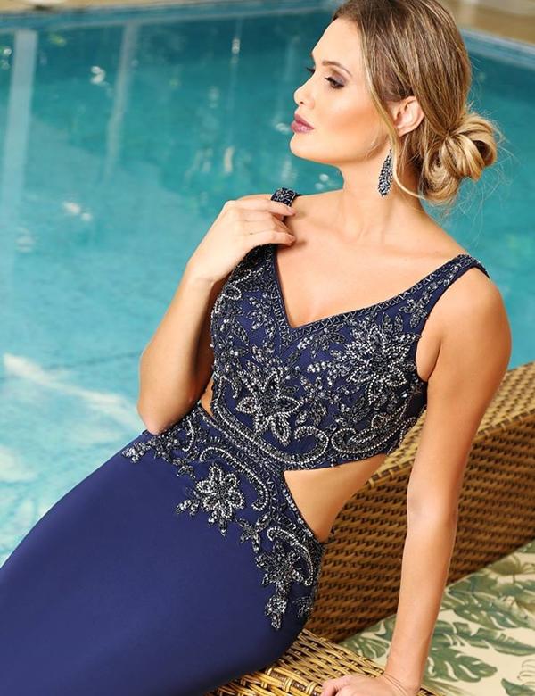10 vestidos de festa azul para formandas e madrinhas