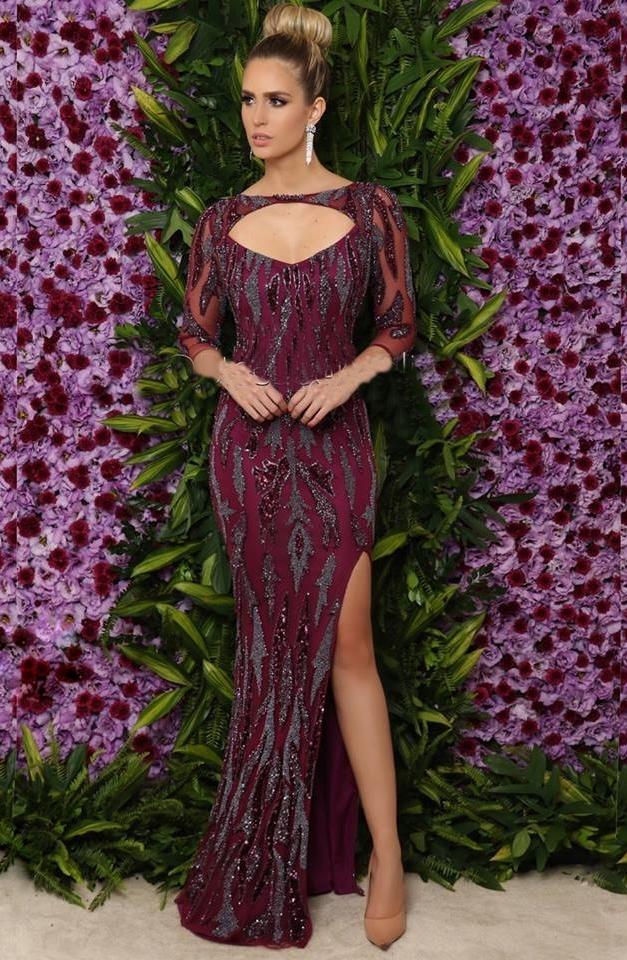 vestido vinho 2018