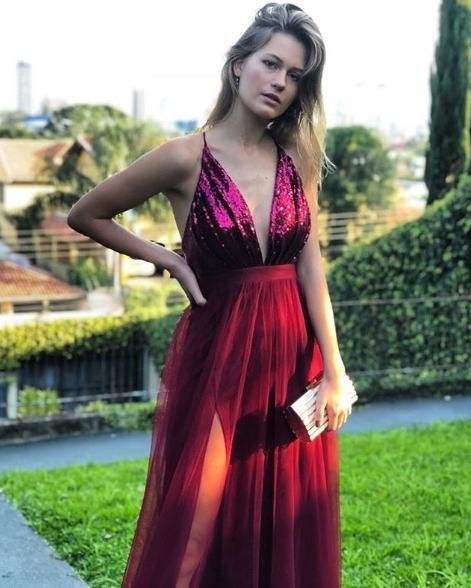 vestido marsala 2018