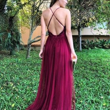 vestido de festa marsala e vinho 2018