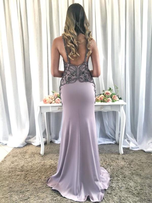 vestido de festa lilás madrinha de casamento