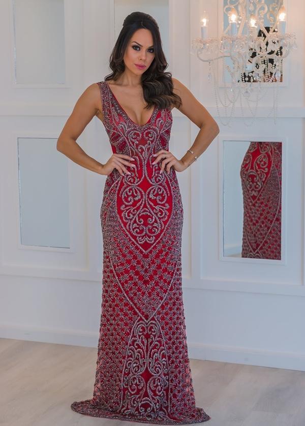 vestido formatura 2019 vermelho