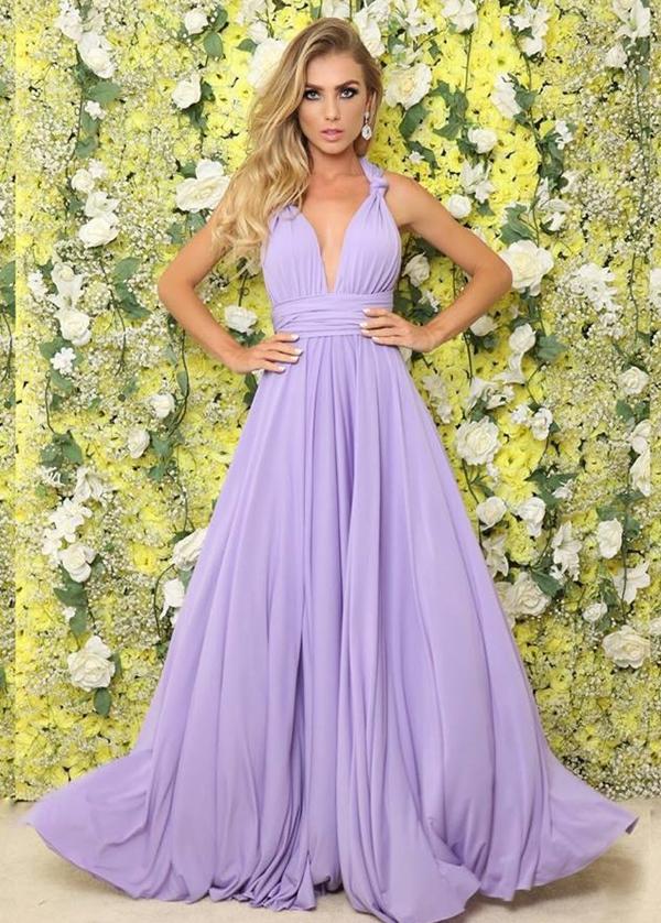 vestido lilás para madrinha de casamento
