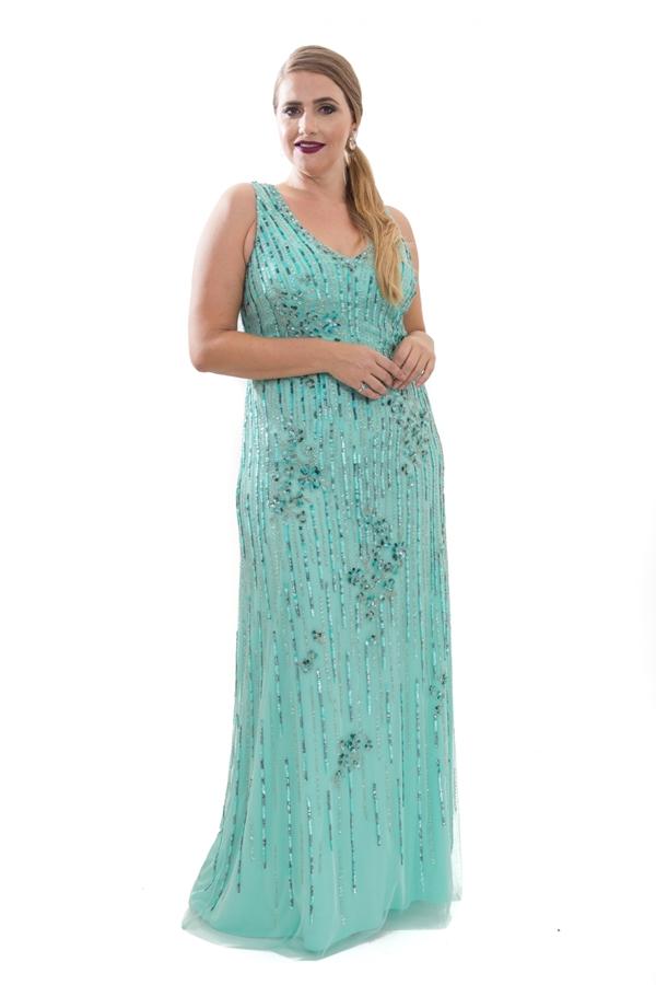 vestido de festa plus size tiffany