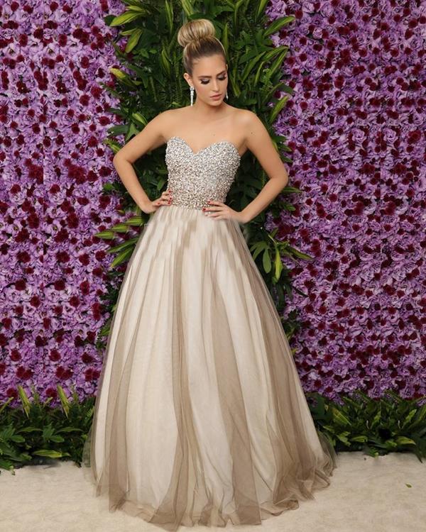 vestido de debutante longo