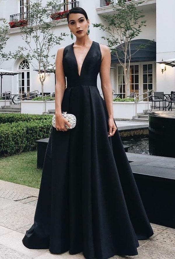 vestido de festa preto para madrinha de casamento