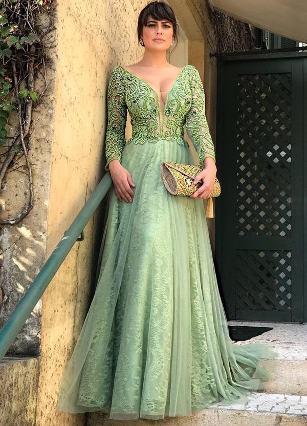Vestido de formatura verde 2019: fotos, modelos e tendências