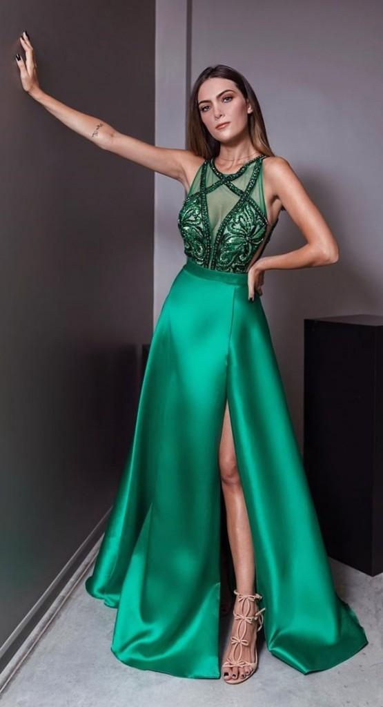 vestido de festa verde para formanda 2020