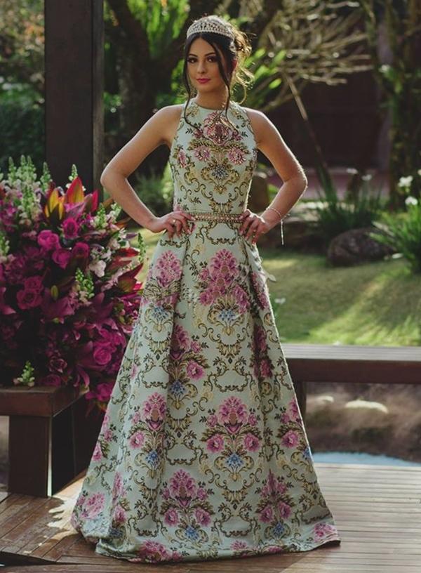 vestido longo para debutante