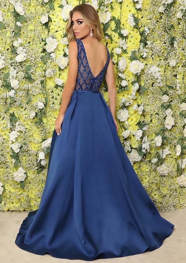 vestido de festa azul 2019