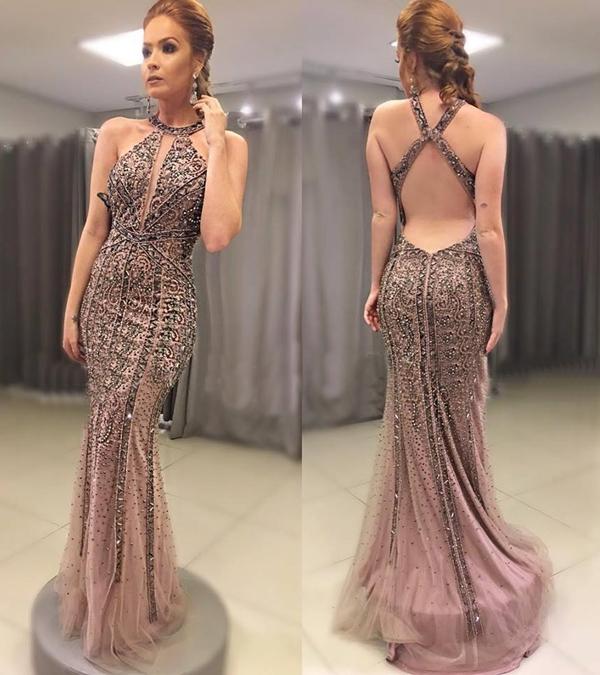 vestido formatura 2019 rosa