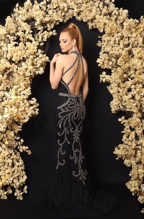 vestido preto longo bordado