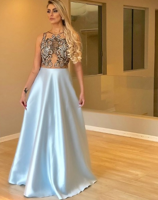 vestido estilo princesa formatura 2019