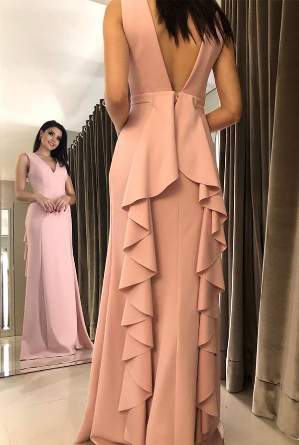 vestido rosé para madrinha