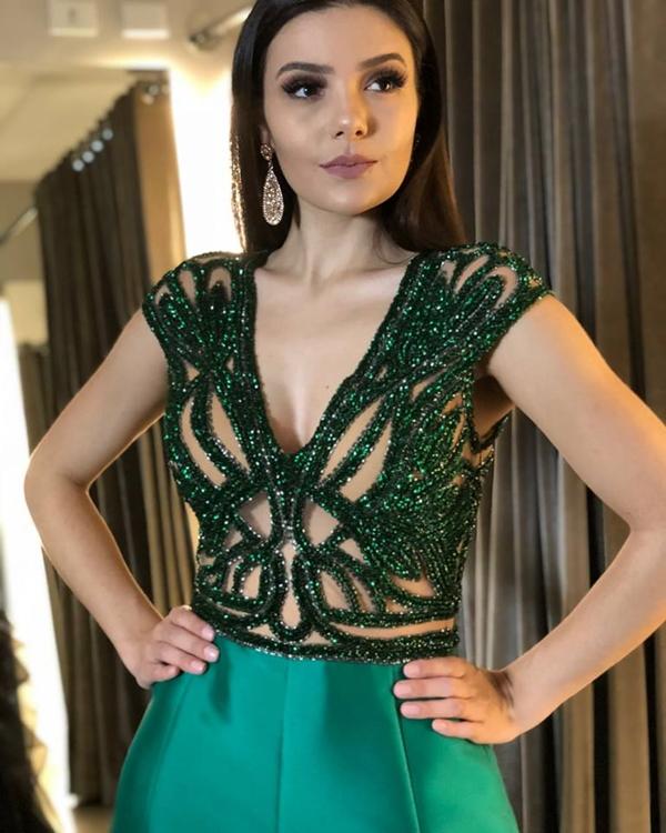 vestido formatura 2019 verde