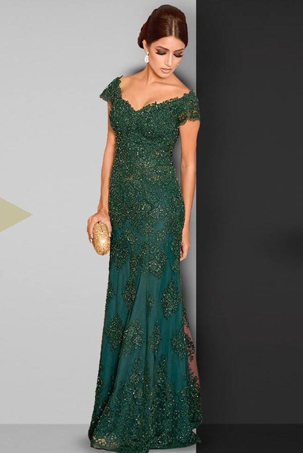 Vestido de formatura verde 2019