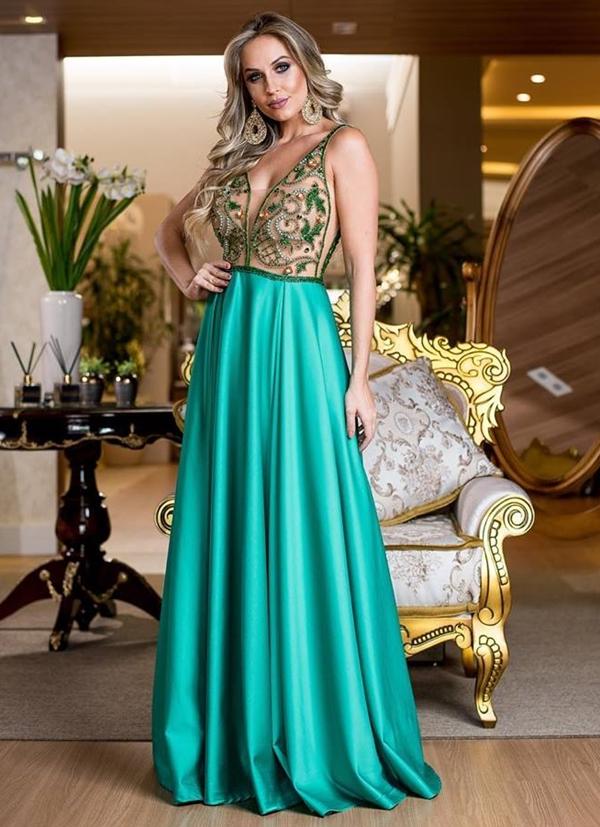 Vestido verde formatura