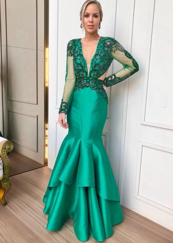 Vestido de formatura verde 2020: fotos, modelos e tendências