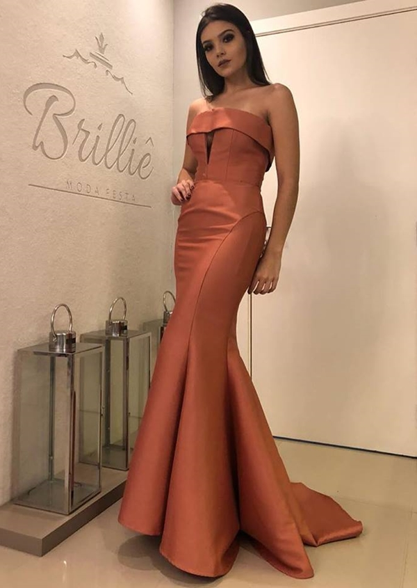 vestido de festa sereia