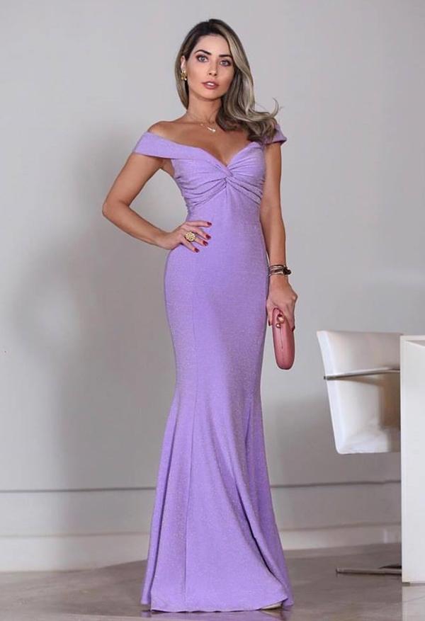 vestido de festa lavanda lilás