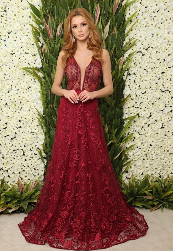 ... vestido de festa longo marsala ef945e359c9f
