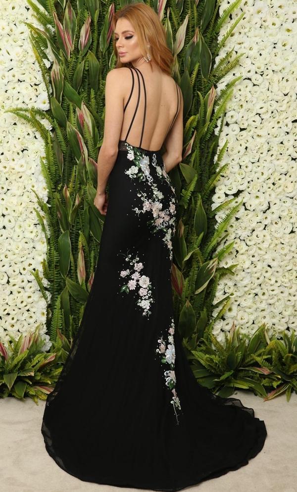 vestido de festa longo preto costas nuas