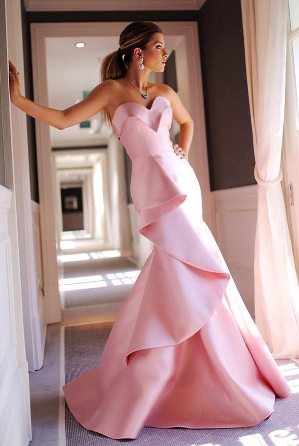vestido logo rose modelo sereia