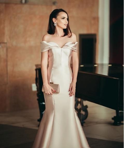 vestido de festa sereia longo