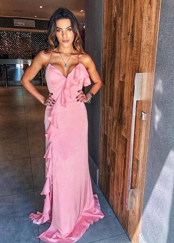 vestido longo rosa para madrinha