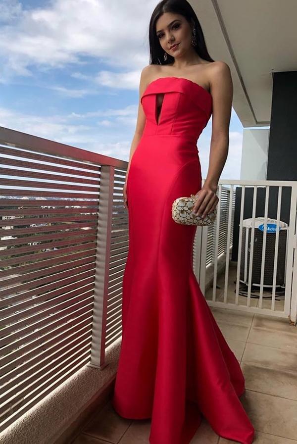 vestido longo rosa melancia